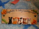 5 character 3d Kitty Sign Any Phrasing Personalised & Customised Plaque Handmade To Order Happiness is being owned by a Cat